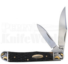 Eugene Shadley Engraved Jigged Bone Trapper Knife