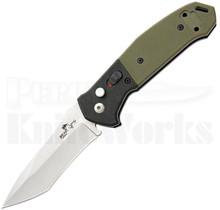 Bear OPS Bold Action V Automatic Knife Black/Green G-10