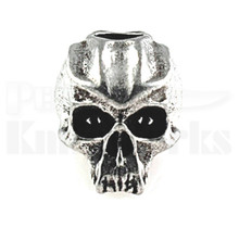 Schmuckatelli Cyber Skull Bead Pewter