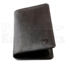 Guard Dog Premium Leather Large Ultra Slim RFID Wallet (Black)