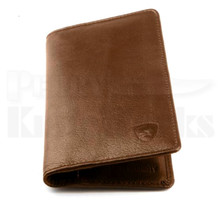 Guard Dog Premium Brown Leather Large Ultra Slim RFID Wallet