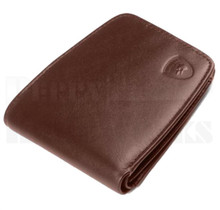 Guard Dog Premium Brown Leather Small Ultra Slim RFID Wallet