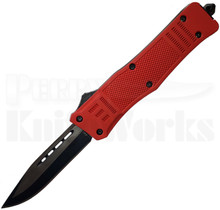 Cutting Edge Heretic Red D/A OTF Automatic Knife Two-Tone