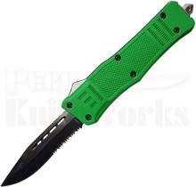 Cutting Edge Heretic Green D/A OTF Automatic Knife l 2-Tone Serrated