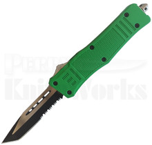 Cutting Edge Heretic Green D/A OTF Auto Knife Tanto Serrated