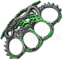 Master Cutlery Dragon Belt Buckle Knuckles (Green) PK-2443GN