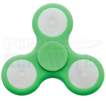 Novelty Cutlery LED Tri-Prong Fidget Spinner Green NV297