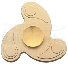 Novelty Cutlery Gold Aluminum Fidget Spinner NV312