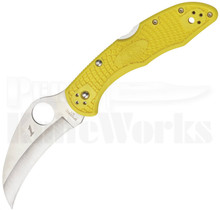 Spyderco Tasman Salt 2 Yellow Lock Back Knife Plain Satin C106PYL2