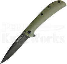 Kershaw Al Mar AM-3 Framelock Knife OD-Green 2335GRNBLK
