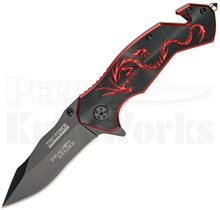 Tac-Force Dragon Strike Rescue Red Spring Assisted Knife TF-759BR
