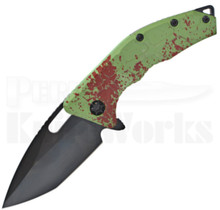 Heretic Knives Martyr Linerlock Knife Green Splash