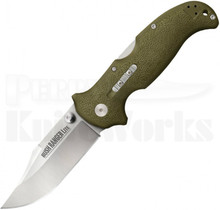 "Cold Steel Bush Ranger Lite Tri-Ad Lock Knife OD Green (3.5"" Satin) 21A"