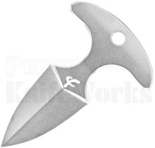 "Fred Perrin Mini Push Dagger Neck Knife 1.75"" Stonewash"