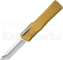 Heretic Knives Cleric Tanto OTF Automatic Knife Tan