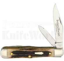 Schatt & Morgan #56 Coke Bottle Knife Elk Stag