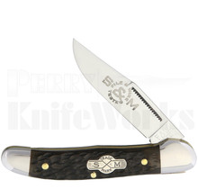 Schatt & Morgan #41 File & Wire Hunter Knife Brown Bone