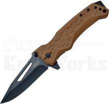 Camillus NS-8 Liner Lock Knife Brown GFN 19241