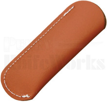 "Brown Leather 4.5"" Medium Slip Pouch Sheath"
