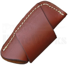 Brown Leather Horizontal Carry Belt Sheath