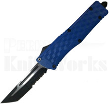 Delta Force Blue Tanto Partially Serrated OTF Automatic Knife