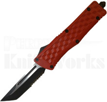 Delta Force Red Tanto Partially Serrated OTF Knife