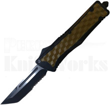 Delta Force Black/Brown Tanto Partially Serrated OTF Knife