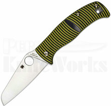 Spyderco Caribbean Knife Black/Yellow G-10 Sheepsfoot C217GPSF