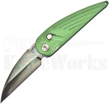 RAT Worx MRX Chief Automatic Knife Green Alabama Damascus