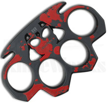 Z-Hunter Skulls Belt Buckle Knuckles (Red) ZB-017R