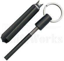 Real Steel Glass Breaker w/Fire Starter - Black
