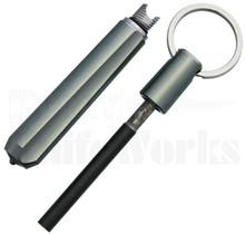 Real Steel Glass Breaker w/Fire Starter - Gray