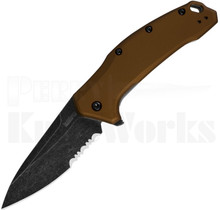 Kershaw Link Knife Bronze 1776BRZBWST Part Serrated