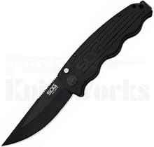 SOG Tac Ops Automatic Knife Black Micarta TO1011