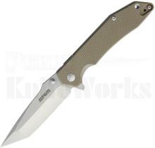 SRM Knives Sanrenmu Liner Lock Knife Tan G-10