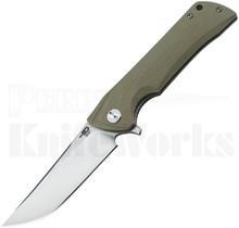 Bestech Knives Paladin Linerlock Knife Green G-10 Stonewash
