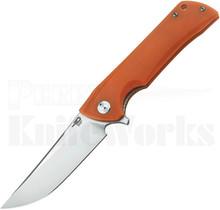 Bestech Knives Paladin Linerlock Knife Orange G-10 Stonewash