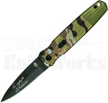Gerber Covert Automatic Knife Green Multi Cam 30-001601