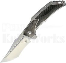 Todd Begg Astio Frame Lock Knife Herringbone Pearl C/F