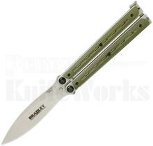 Bradley Kimura Butterfly Balisong Knife OD-Green BCC901
