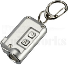 Nitecore TINI Silver Key Chain LED Flashlight 380 Lumens