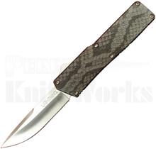 Lightning Snake Skin D/A OTF Automatic Knife l Drop Point
