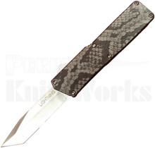Lightning Snake Skin D/A OTF Automatic Knife l Tanto Plain Edge