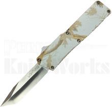 Lightning Tree Camo D/A OTF Automatic Knife l Tanto Plain Edge