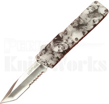 Lightning Zombie D/A OTF Automatic Knife l Tanto Partially Serrated