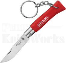 Opinel No. 4 Keyring Knife Red Beechwood