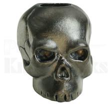 Schmuckatelli Classic Skull Bead Matte Hematite