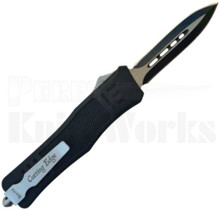 Cutting Edge Heretic Medium Black OTF Automatic Knife Spear Point