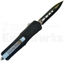 Cutting Edge Smoov Mini Black OTF Automatic Knife Spear Point