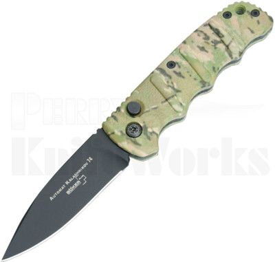"""Boker Kalashnikov Camo Automatic Knife 3.25"""" Black"""